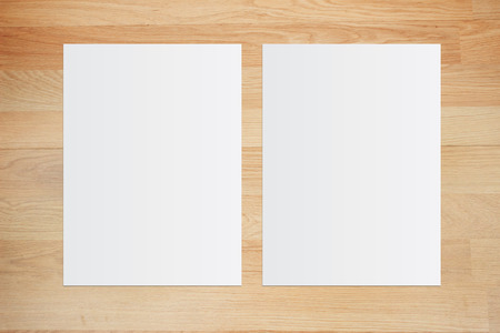 White paper and space for text on old wooden background 免版税图像