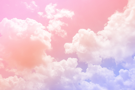 Cloud and sky with a pastel colored background