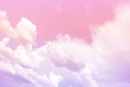 Cloud and sky with a pastel colored. Nature abstract background