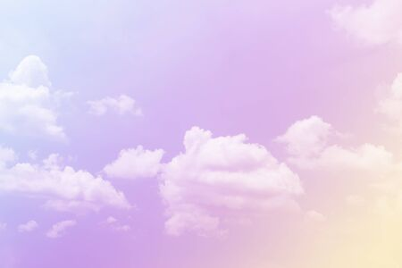 Cloud and sky with a pastel colored background Reklamní fotografie