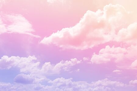 Cloud and sky with a pastel colored background Фото со стока