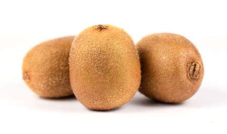 Close up of kiwi fruit isolated on the white background