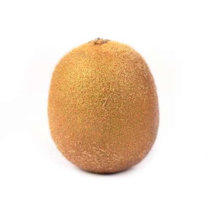 Close up of kiwi fruit isolated on white background