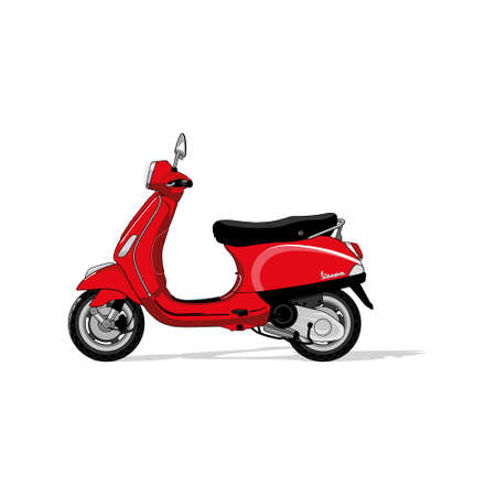 legendary: legendary italian scooter Illustration