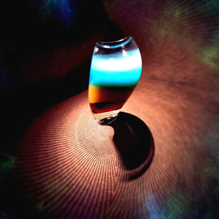 distorted image: Alcoholic drink at a party Stock Photo
