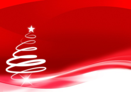 the christmas cards: Red christmas new year background