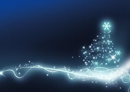 Blue christmas fond la nouvelle année