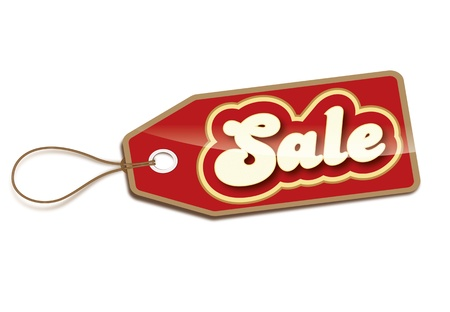 e marketing: Sale price tag isolated on a white background
