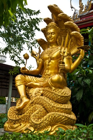 thai sculpture image of narayana photo
