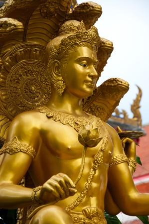 metal sculpture: thai sculpture image of narayana