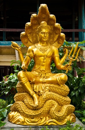 hindu god: thai sculpture image of narayana