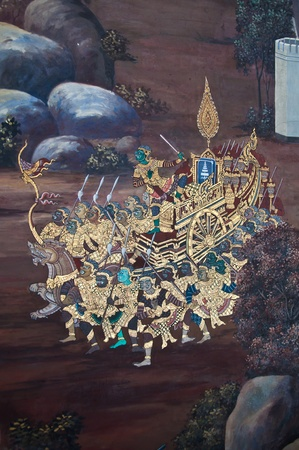 mural in temple thai photo