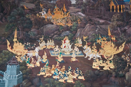 mural in the temple photo