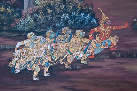 mural in the temple Stock Photo - 10964079