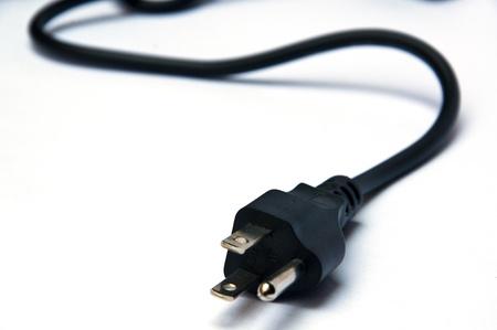 black electric power plug photo