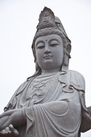 goddess of mercy: Kuan Yin image of buddha sculpture art