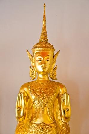 gold image of buddha ancient art  photo