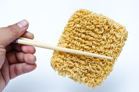 noodle Chopsticks Stock Photo