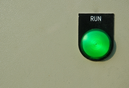 run switch control button Stock Photo