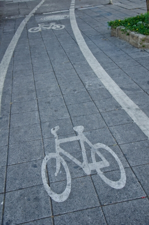 traffic symbol cycle lane photo