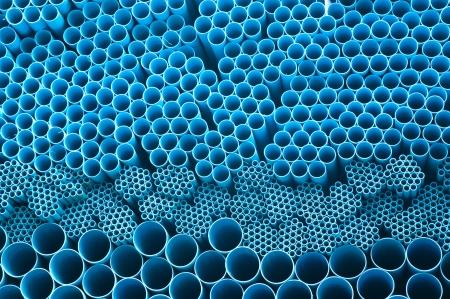 plastic pipe: blue pvc pipe