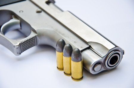 gun with bullet  photo