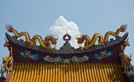 dragon chinese style temple Stock Photo