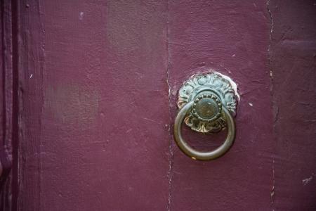 knocker vintage on door photo