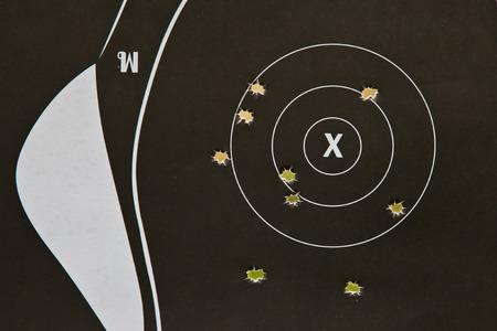 concealed:  Target gun Stock Photo