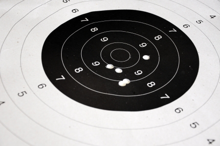 sniper training: shooting target Stock Photo