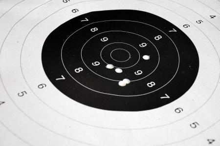sniper training: shooting target Stock Photo