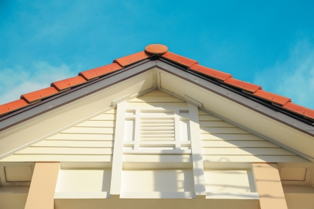 half timbered house: the gable Stock Photo