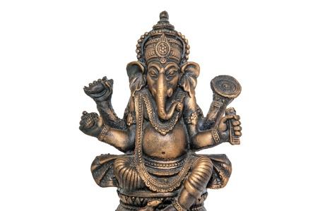 god figure: Wooden craft of Lord Ganesha Stock Photo