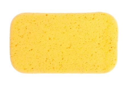 Yellow  Sponge isolated on white background