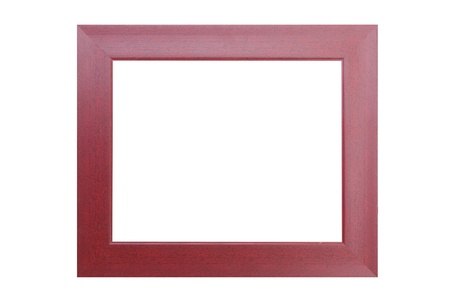 red wooden  frame isolated on white background Stock Photo