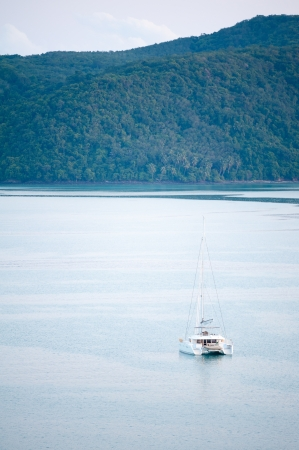yacht in Andaman sea at phuket, Thailand photo