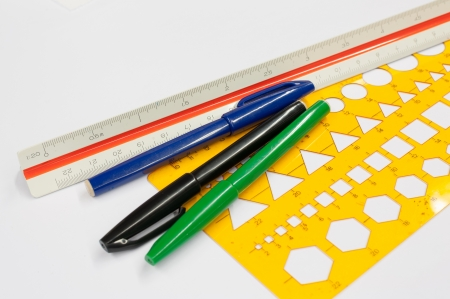 architect tools: Architect s drawing tools, Architect s sketching tools on white background
