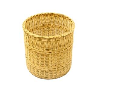 Thai handmade Basket wicker isolated on white Stock Photo - 16378998