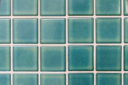 mosaic floor: local style Thai Green ceramic tiles