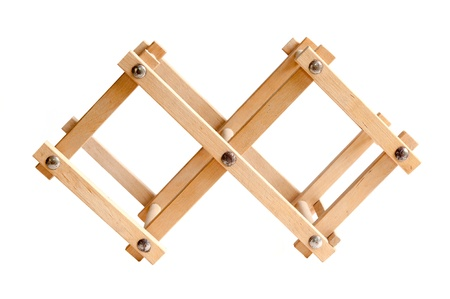 wooden bottle rack, isolated on white background Stock Photo - 16378996