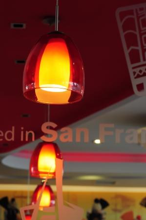 Arrangement of hanging lighting fixtures Stock Photo - 16547751