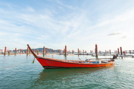 traditional Thai Long tailed boat at phuket dock, Thailand Stock Photo - 16733184