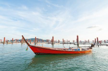 traditional Thai Long tailed boat at phuket dock, Thailand Stock Photo - 16733184