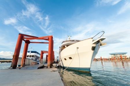 small cruise ship at a dock, phuket Thailand