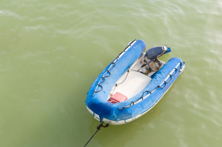 inflatable boat on the water photo