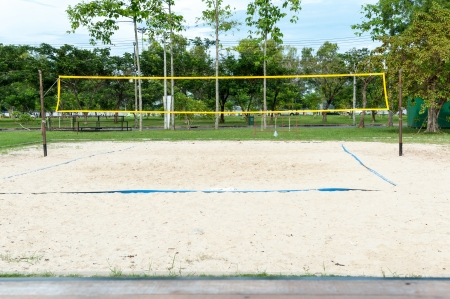Beach Volleyball field Stock Photo