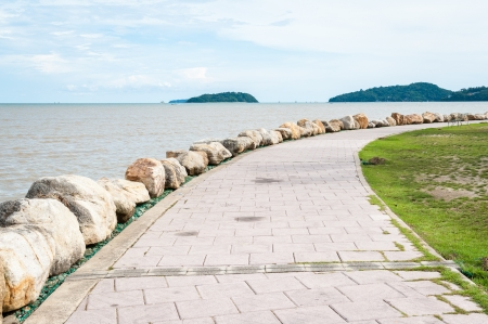 pathway beside andaman sea, phuket Thailand Stock Photo - 16864665