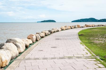 pathway beside andaman sea, phuket Thailand Stock Photo - 16864665