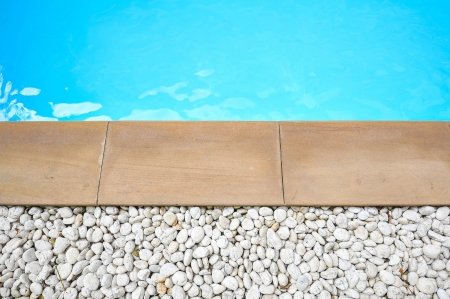 detail of beautiful swimming pool edge photo