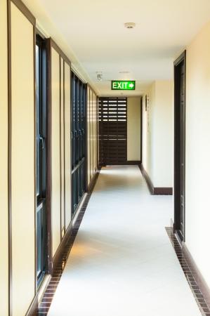 long corridor Standard-Bild
